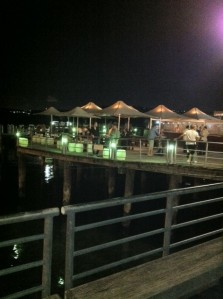 The outside bar on a pier over looking Sydney Harbour